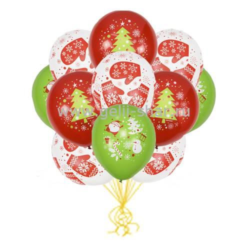 5675feb43dda Облако шаров С Новым Годом - заказать в интернет-магазине Gelii-Shar ...