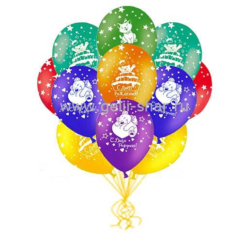 44fb3b63f42a Облако шаров С Днем Рождения Зверюшки - заказать в интернет-магазине ...
