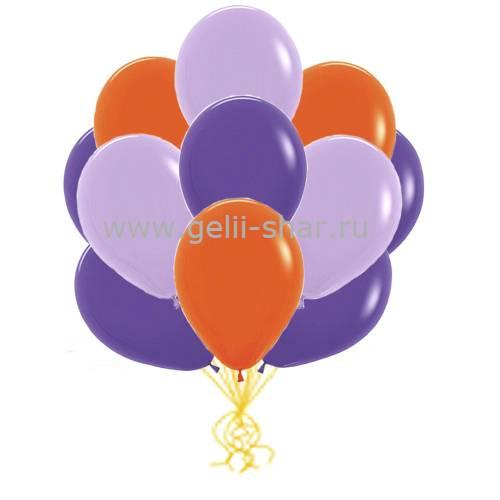 e2ddcd8d4060 Облако Сиреневых, Фиолетовых и Оранжевых шаров - заказать в интернет ...