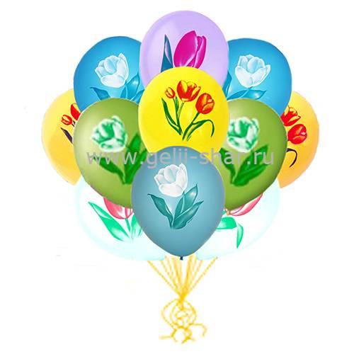 a12c06a668f2 Облако шаров Тюльпаны - заказать в интернет-магазине Gelii-Shar за 1 ...