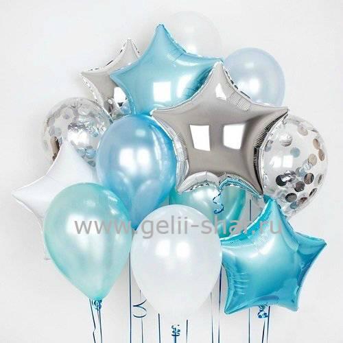 e19b24efc5ca Композиция из шаров Голубая нежность - заказать в интернет-магазине ...