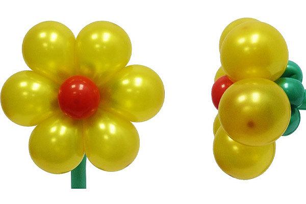 Трехмерные цветы из воздушных шариков