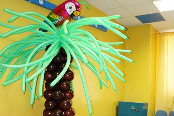 Пальмы из надувных шаров