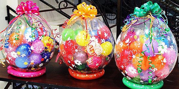 Подарок внутри воздушного шара