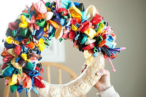 Элементы декора из лопнувших шаров